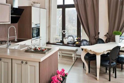 Дизайн интерьера квадратной кухни: чем проще основа — тем больше вариантов