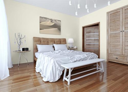 Интерьер спальни в тонах серого и коричневого