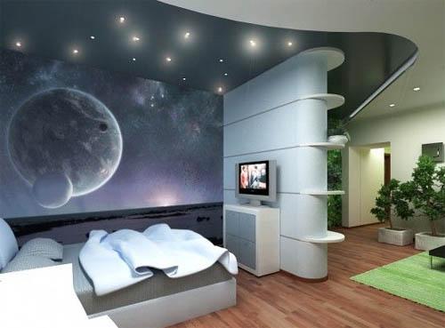 Космические темы на стене
