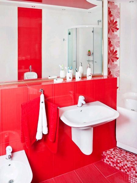 Красный цвет поможет оживить интерьер