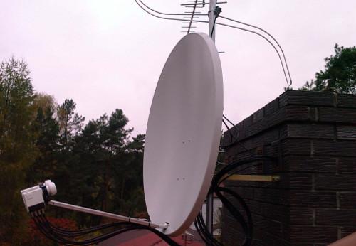 Спутниковое телевидение и интернет в загородном доме